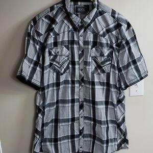 Like New Black & Gray Buckle Black Shirt
